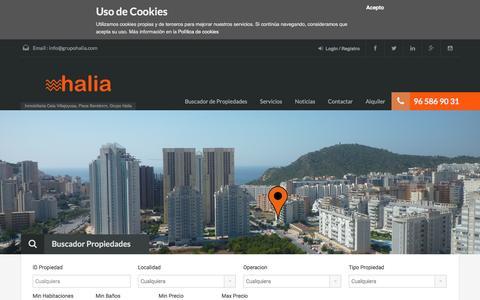 Screenshot of Home Page grupohalia.com - Grupo Halia - captured Dec. 15, 2015