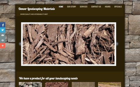 Screenshot of Home Page denverlandscapingmaterial.com - Home - captured Oct. 5, 2014