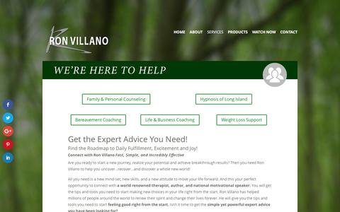 Screenshot of Services Page ronvillano.com - Services | Ron Villano - captured June 15, 2017