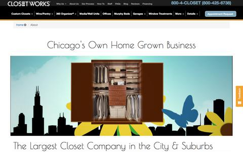 Screenshot of About Page closetworks.com - About Closet Works - Chicago IL - captured July 19, 2018