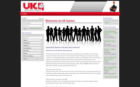 Screenshot of Home Page Login Page ukgrecruitment.com captured Oct. 3, 2014