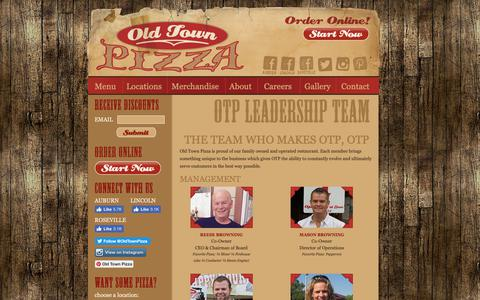 Screenshot of Team Page otpizza.net - Old Town Pizza / OTP Family  /   Auburn CA, Lincoln CA, Roseville, CA / Best Pizza in the Sacramento Area - captured Oct. 4, 2018