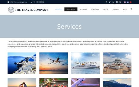 Screenshot of Services Page thetravelcompany.gr - Services   The Travel Company - captured Dec. 22, 2016