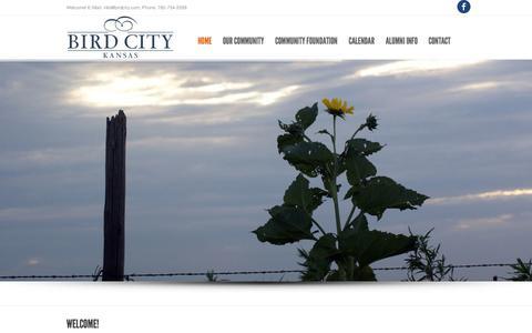Screenshot of Home Page birdcity.com - Bird City, KS - captured Oct. 6, 2014