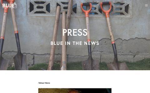 Screenshot of Press Page bluemissions.org - Press — BLUE Missions - captured July 31, 2018