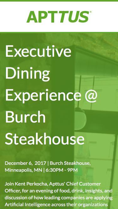 Apttus Dinner at Burch Steakhouse