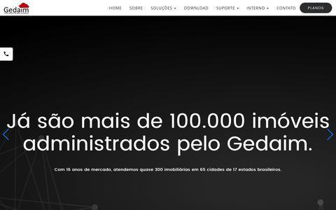 Screenshot of Home Page gz.imb.br - Sistema para imobiliária - Gedaim - captured Jan. 26, 2017