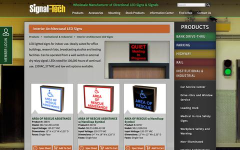 Interior Architectural Signs | Institutional and Industrial Signs | Signal-Tech