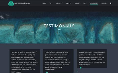 Screenshot of Testimonials Page sobydesign.com - TESTIMONIALS | Louisville, KY Web Designer  | Social By Design - captured Oct. 22, 2018