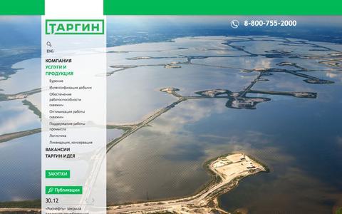 Screenshot of Services Page targin.ru - Услуги и продукция - captured June 16, 2017