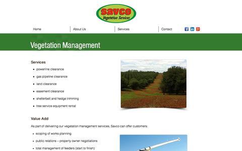 Screenshot of Team Page savco.com.au - Vegetation Management Services |Savco - captured Oct. 6, 2017