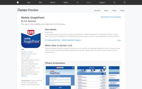Mobile SinglePoint on the App Store