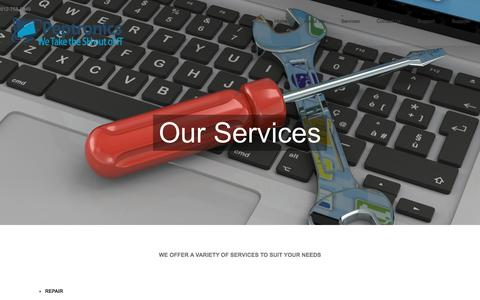 Screenshot of Services Page peptronics.com - Services - Peptronics - captured July 17, 2018
