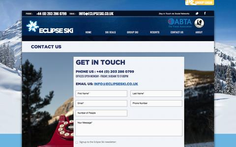 Screenshot of Contact Page eclipseski.co.uk - Contact Us - Eclipse Ski - captured Oct. 22, 2014