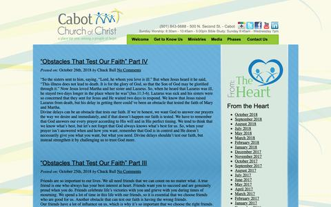 Screenshot of Blog cabotchurch.com - Cabot Church of Christ - Cabot Church of Christ - captured Nov. 9, 2018
