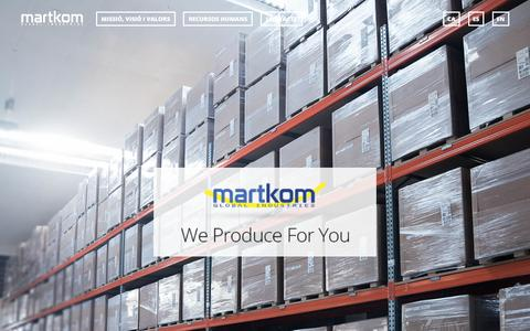 Screenshot of Home Page martkom.com - Martkom | Global Industries - captured Oct. 17, 2017