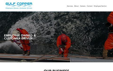 Screenshot of Home Page gulfcopper.com - Gulf Copper - captured Sept. 30, 2018
