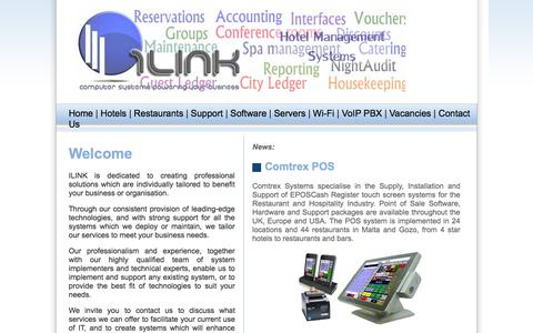 Screenshot of Home Page ilink.com.mt - iLink - Computer Systems Powering Your Business - captured Oct. 6, 2014