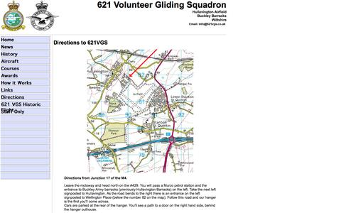 Screenshot of Maps & Directions Page 621vgs.co.uk - 621 Volunteer Gliding Squadron - Directions - captured Oct. 29, 2014
