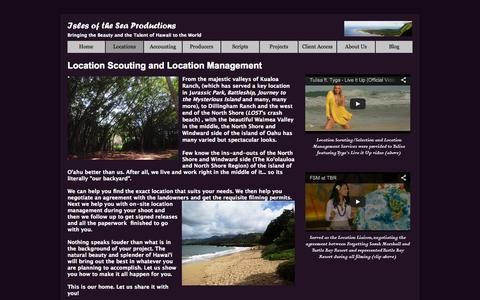 Screenshot of Locations Page islesoftheseaproductions.com - Isles of the Sea Productions: Location Scouting & Location Management - captured Oct. 27, 2014