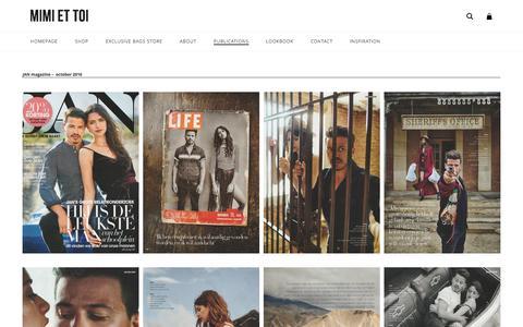 Screenshot of Press Page mimiettoi.com - Publications | MIMI ET TOI - captured Jan. 5, 2017