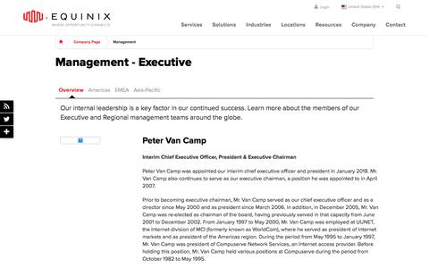 Screenshot of Team Page equinix.com - Management | Equinix - captured April 20, 2018