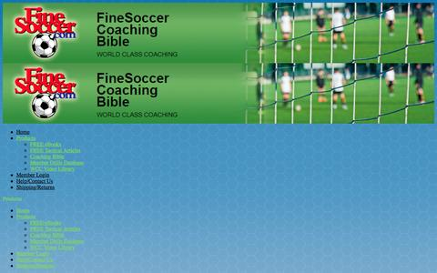 Screenshot of Products Page finesoccer.com - Products | FineSoccer Coaching Bible - captured June 13, 2016