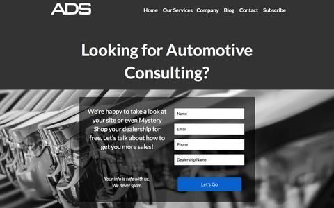 Screenshot of Landing Page adsautomarketing.com - Automotive Consulting - captured April 20, 2016