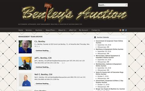 Screenshot of Team Page auctionsouthwest.com - Category Archives: Management Team - captured Oct. 5, 2018