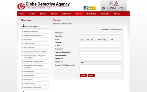 Screenshot of Jobs Page globedetective.com - Globedetective-Careers - captured Sept. 19, 2014