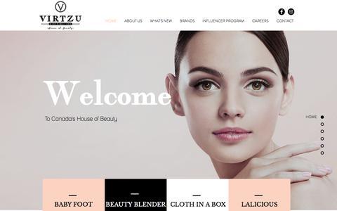 Screenshot of Home Page virtzu.com - virtzu - captured Sept. 3, 2019