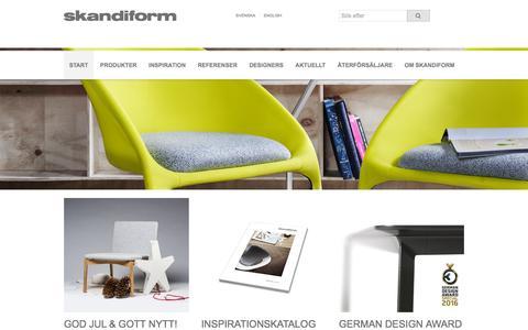 Screenshot of Home Page skandiform.se - Start - captured Dec. 21, 2015