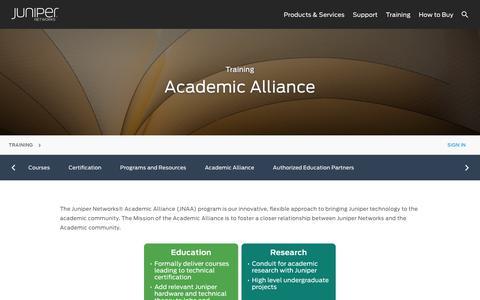 Juniper Networks Academic Alliance (JNAA) - Juniper Networks