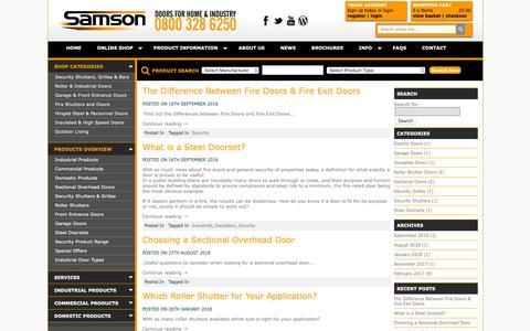 Screenshot of Blog samsondoors.co.uk - Samson Doors Blog - captured Oct. 2, 2018