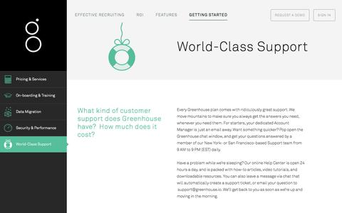 Screenshot of Support Page greenhouse.io - Support - captured Oct. 29, 2014