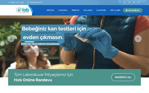 Screenshot of Home Page elab.com.tr - elab Laboratuvar Hizmetleri - captured Sept. 20, 2017