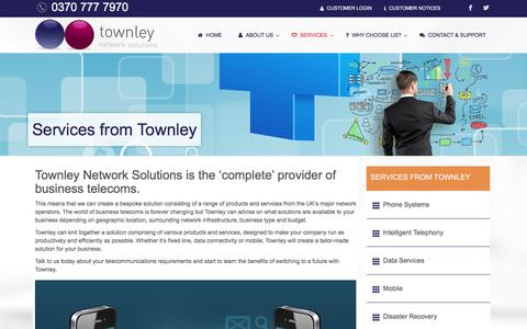 Screenshot of Services Page townley.co.uk - Services from Townley | Townley Network Solutions - captured Feb. 25, 2016
