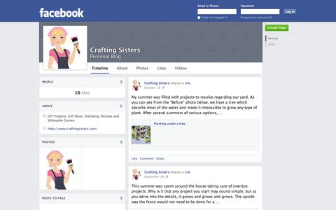 Screenshot of Facebook Page facebook.com - Crafting Sisters | Facebook - captured Oct. 22, 2014