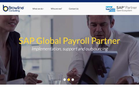 Screenshot of Home Page browline.com - SAP Global Payroll Partner | SAP SuccessFactors Specialist - Browline Consulting - captured Oct. 11, 2017