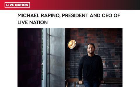 Screenshot of Team Page livenation.com - Michael Rapino | Live Nation - captured Aug. 30, 2019