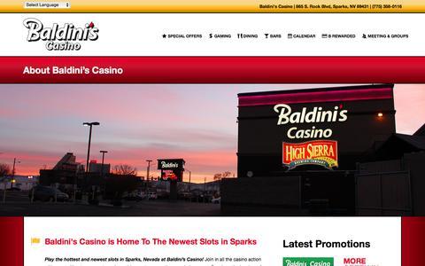 Screenshot of About Page baldinissports.com - About Baldini's Casino - captured Feb. 7, 2016
