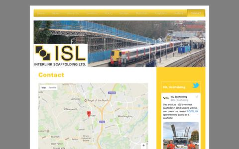 Screenshot of Contact Page islscaffolding.co.uk - Interlink Scaffolding Ltd. - Contact - captured Oct. 16, 2017