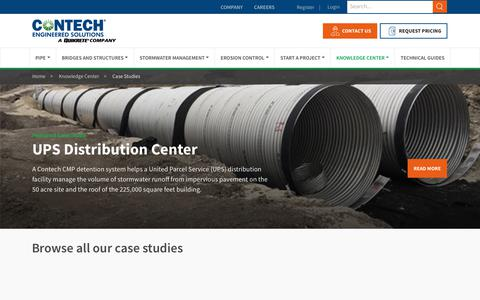 Screenshot of Case Studies Page conteches.com - Case Study Library - Contech Engineered Solutions - captured Dec. 26, 2018