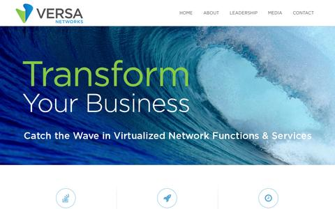 Screenshot of About Page Contact Page Team Page versa-networks.com - Versa Networks - captured Nov. 4, 2014