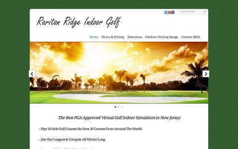 Screenshot of Home Page rrigolf.com - New Jersey - Indoor Golf Driving Range - Golf Lessons & Swing Clinics - Raritan Ridge Indoor Golf - captured Feb. 13, 2016