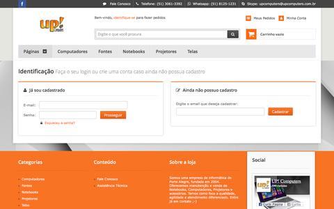 Screenshot of Login Page upcomputers.com.br - UP! Loja e Assistência de Informática - captured Dec. 21, 2015