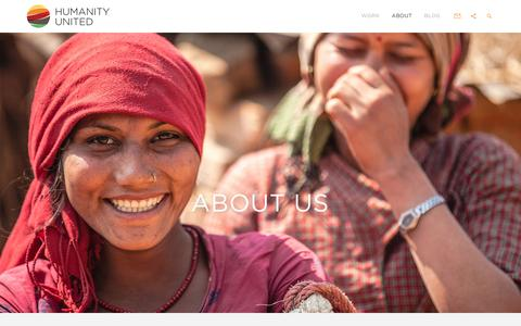 Screenshot of About Page humanityunited.org - About - Humanity United - captured July 18, 2016