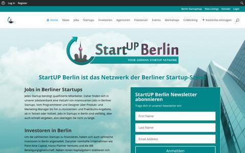 Screenshot of Home Page startup-berlin.com - StartUP Berlin - Dein Netzwerk der Berliner Startup-Szene - captured Nov. 22, 2015