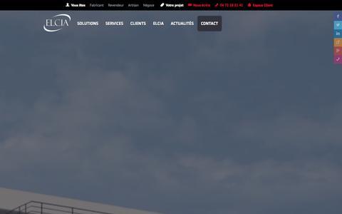 Screenshot of Contact Page elcia.com - Contact ELCIA - captured Oct. 28, 2014