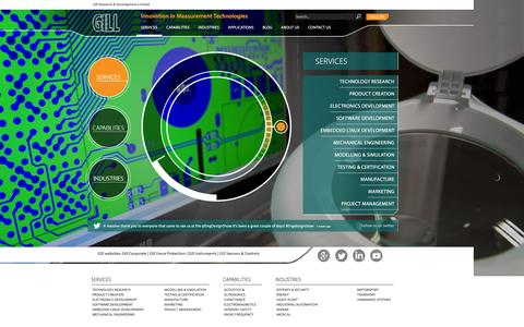 Screenshot of Services Page gillrd.com - Services | Gill Research & Development Limited - captured Jan. 28, 2016
